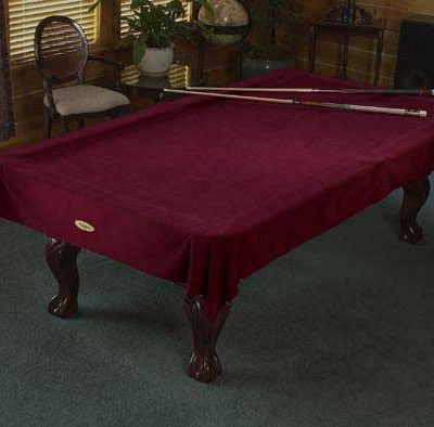 Burgundy pool table cover